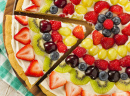 Pizza de fruits faite maison