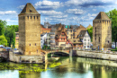 Medieval Bridge in Strasbourg, France
