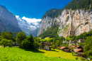 Vallée de Lauterbrunnen, Alpes Suisses