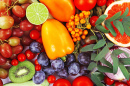 Raw Organic Vegetables and Fruits