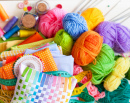 Colored Fabrics, Yarn and Threads