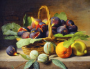 Still Life of Figs in a Basket