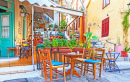 Street Cafe in Plaka, Athens, Greece