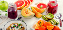 Smoothies, fruits, muesli et baies