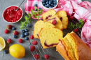 Lemon Pound Cake with Berries