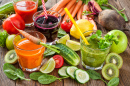 Freshly Squeezed Fruit and Vegetable Juices