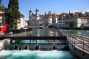Lucerne and River Reuss, Switzerland