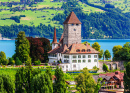 Spiez Castle by Thun Lake, Switzerland