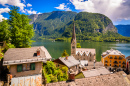 Hallstatt Village and Alpine Lake, Austria