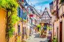 Town of Eguisheim, Alsace, France
