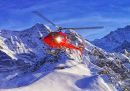 Helicopter at the Swiss Ski Resort