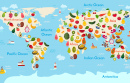 Carte mondiale des fruits