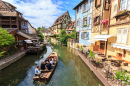 Canal in Colmar, Alsace, France