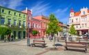 Town Square in Wabrzezno, Poland