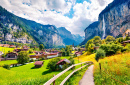 Village de Lauterbrunnen, Alpes Suisses