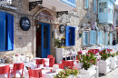 Street Restaurant in Alacati, Turkey