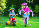 Kids Riding Bikes in a Park