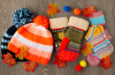 Knitted Hats, Mittens and Socks