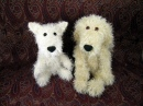 Crocheted Rooney and Bailie
